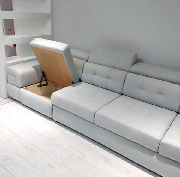 Серый диван в ткани-2
