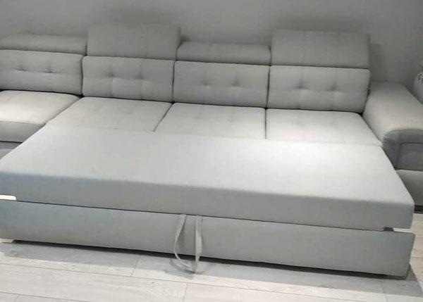 Серый диван в ткани-3
