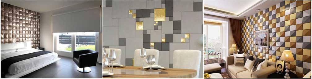 Мягкие стеновые панели из мелких деталей